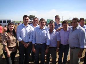Os vereadores do PSDB de Guaíra com o Deputado Federal Duarte Nogueira e o Secretário de Desenvolvimento Social Rodrigo Garcia