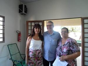 As vereadoras Susete Barini e Cida Armani com o Deputado Chico Sardelli